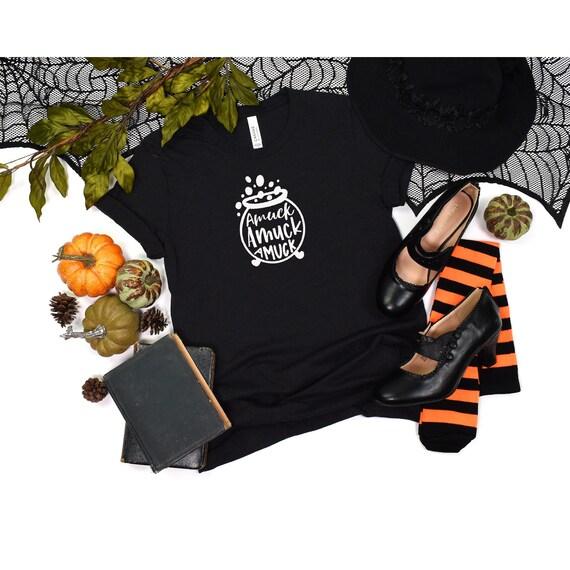 Amuk Amuk Amuk Halloween shirt, Witch shirt, Halloween Costumes, Halloween Tees, Sanderson Sisters, Women halloween tee, Witch Cauldron