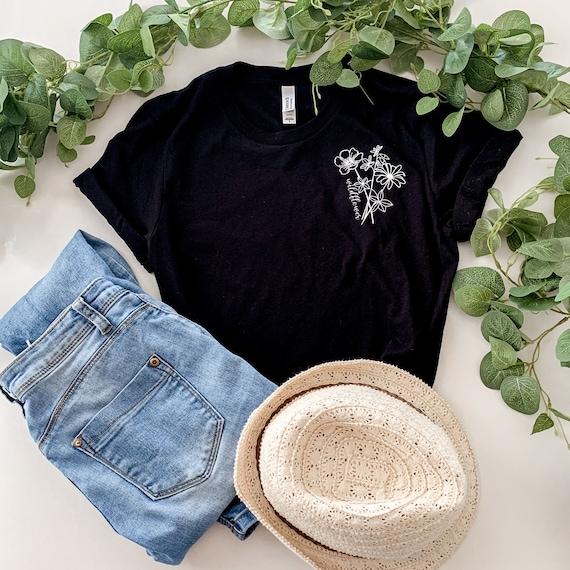 Wildflower Shirt, Gift for her, Womens Shirt, Botanical Shirt, Inspirational Shirt, Quote Shirt, wilfdlower tee, plant lady shirt