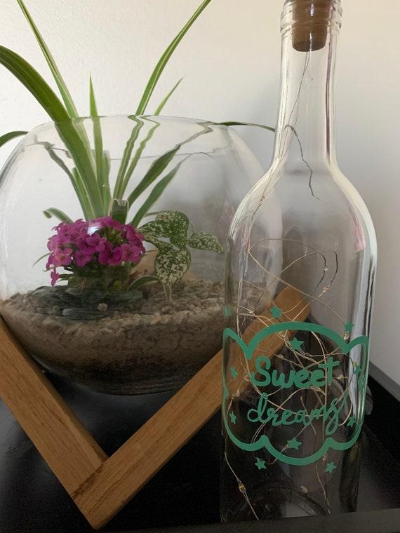 Sweet Dreams wine bottle light - Nursey room decor - Kids room lighting - Night light - fairy light bottle - nursery room light