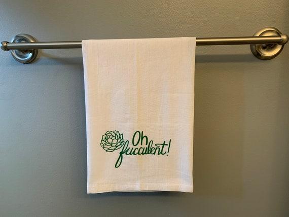 Plant Pun 100% Cotton Flour Sack Tea Towel