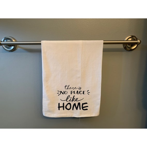 There is no Place like Home Flour Sack Hand/Dish Towel, No Place like Home, saying towel, wizard of oz towel, yellow brick road, Tea Towel