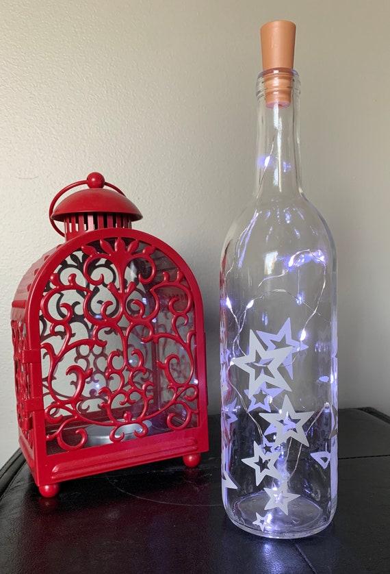 Starshine Bubble Swirl Wine Bottle Light, Fairy Light Bottle, Fairy String Lights, Night Light, Party Table Decor, Wedding table decor