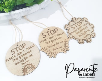 STOP Please don't do not touch my baby,  Infant carrier hygiene sign, Newborn stroller card, Carrier Bag Tag