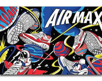 af90e6870c73ff Air Max Nike Modern Wall Art Colorful silk poster 2019 new gift Christmas  room decoration