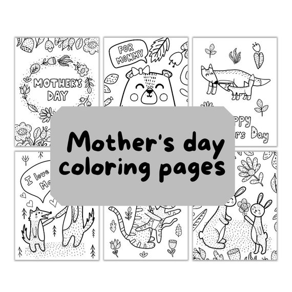 Mother's day coloring pages  9 coloring sheets for kids