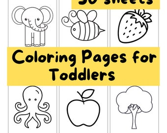 Printable coloring pages for kids, toddlers, preschoolers, 30 coloring pages perfect for toddlers