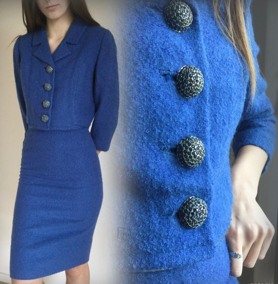 Vintage 1950s Blue Pencil suit