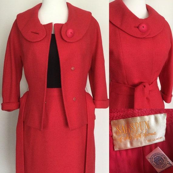 Vintage 1950s pencil suit Sakspun of Saks Fifth Av