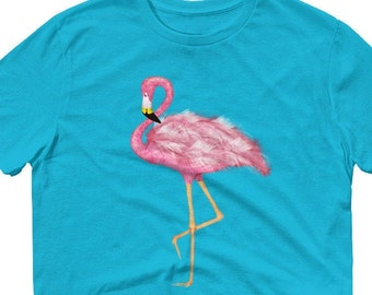 d80b2a02 Watercolor Pink Flamingo,Lightweight, Unisex, Anvil T-Shirt, Incredibly  Soft, Pink Flamingo Shirt, Pink Flamingo T-Shirt