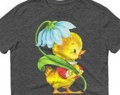 Vintage Duck Art, Lightweight Unisex Anvil T-Shirt, Cute Duck T-Shirt, Duck Art Tee, Duck lover Gift, Vintage Duck T-Shirt
