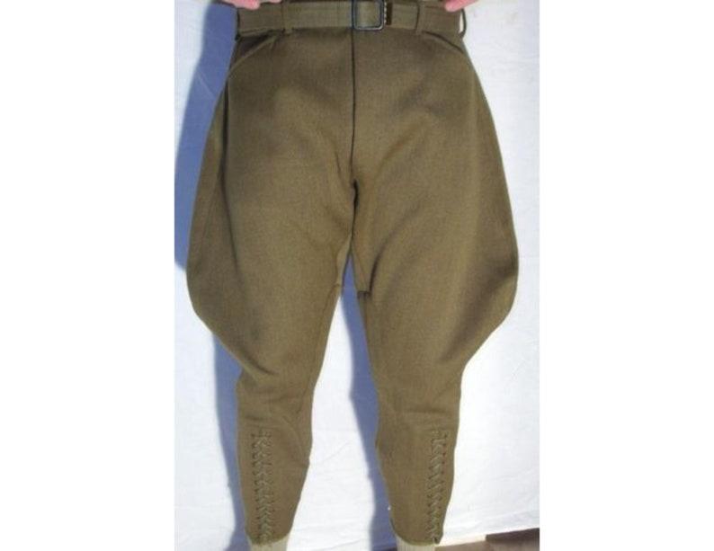1920s Men's Pants, Trousers, Plus Fours, Knickers Mens Khaki Breeches Pants /Equestrian Sports Pants /Horse Riding Breeches/ Retro Jodhpurs Pant/ Baggy Pants/men trouser $129.99 AT vintagedancer.com