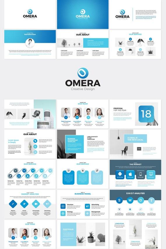 Omera Moderne Powerpoint Präsentation Vorlage