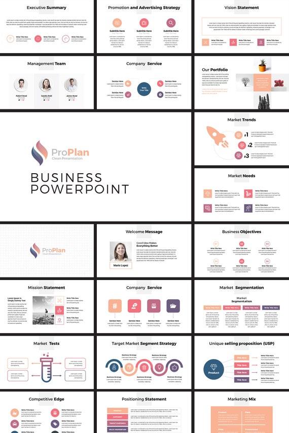 Moderne Business Plan Powerpoint Template Editierbare Powerpoint Vorlage Business Plan Präsentationsvorlage Minimale Power Point Vorlage