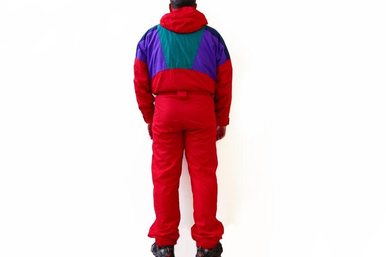 Vintage SKI SUIT 80/'s 90/'s men/'s Size 52 LXL authentic multicolor colorway jacket extreme Jumpsuit retro Coverall winter puffer warm wear
