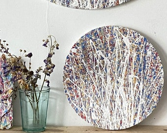Round Abstract Painting - Colourful Gallery Wall Artwork - Textured Art On Canvas - Artworks In Rainbow Colours - Contemporary Paintings