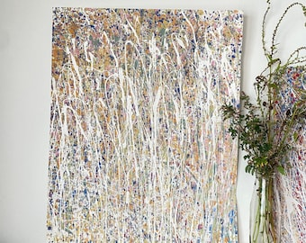 Abstract Textured Painting - Abstract Artwork By Emerging Artists - Pastel Coloured Artworks - Original Paintings On Paper
