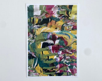 Contemporary Art Prints Designed For Gallery Walls - Colourful Wall Art - Vibrant Abstract Design - Bright Coloured Art Print From Painting