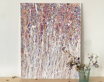Rainbow Coloured Artwork - Abstract Painting By An Emerging Artist - Contemporary Artworks - Original Art On Paper - Colourful Wall Art