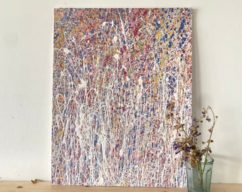 Abstract Painting In Rainbow Colours - Colourful Contemporary Paintings - Bright Coloured Original Art On Paper