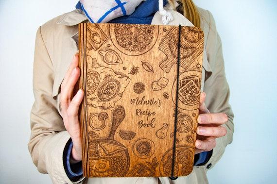 Personnalisé En bois Recette Livre Binder Custom ...