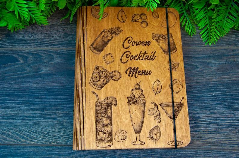 Cocktail Recipe Book Recipe Book Bar Gift Fun Bartender Gift image 0