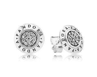 9372ad6ef Authentic Pandora Charm Signature Stud Earrings 290559CZ Bead