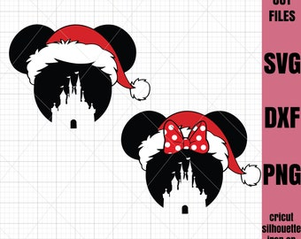 Mickey SVG Christmas Svg Minnie svg File Cricut File Silhouette Cut file Iron on transfer file SVG File Cutting File