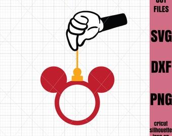Mickey SVG Christmas Svg Mickey Mouse svg  Mickey Monogram svg File Cricut File Silhouette Cut file Iron on transfer file SVG File