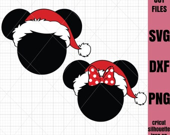 Mickey SVG Christmas Svg Mickey Mouse svg File Cricut File Silhouette Cut file Iron on transfer file SVG File Cutting File