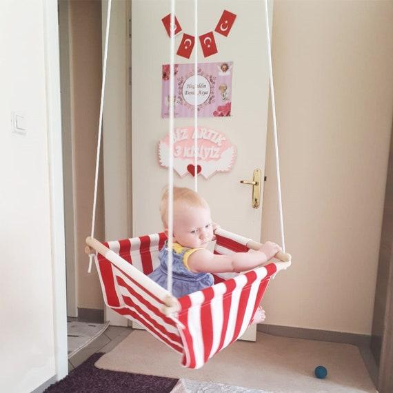 Wooden rope tree baby swing outdoor and indoor Svava Wooden Baby Swing