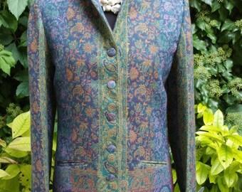 e5deec276c1 Paisley pure wool fabric Coat