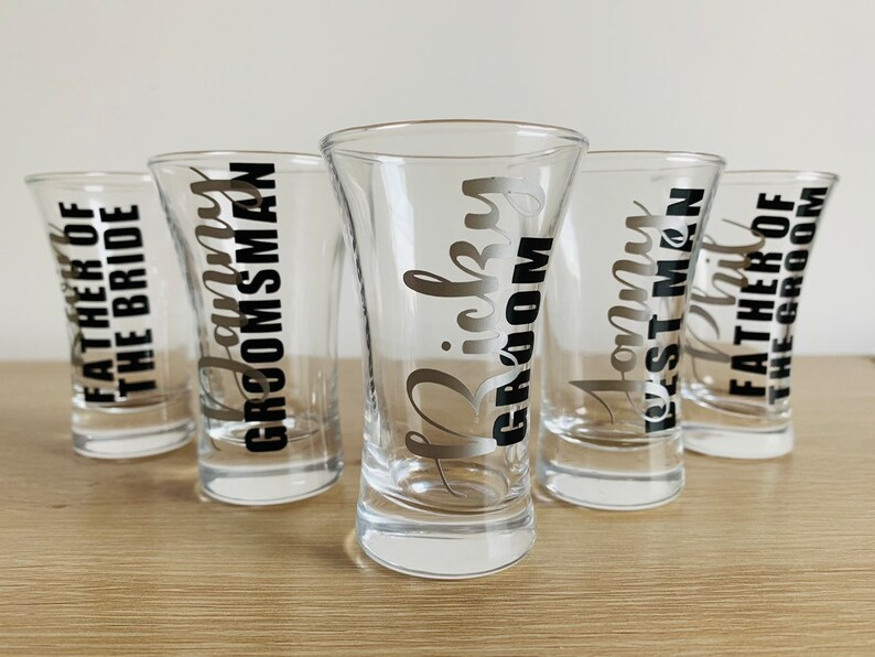 Personalised Engraved Shot Glass Wedding favors for guests Hen Night Party