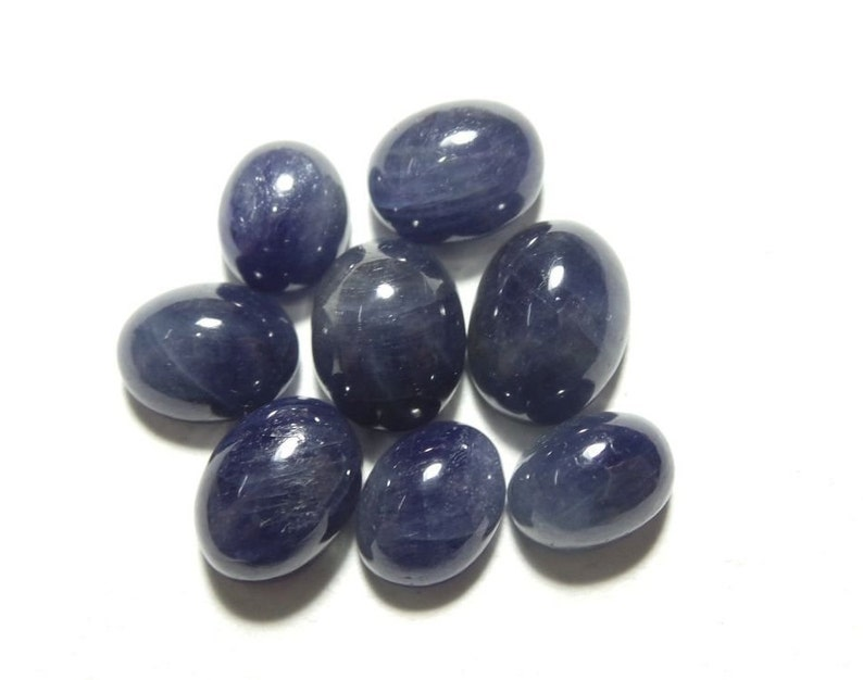 Natural Blue Sapphire Smooth Oval Shape Cabochon For jewellery Making Loose Gemstone. Stone size- 10x7.5-8x6 MM