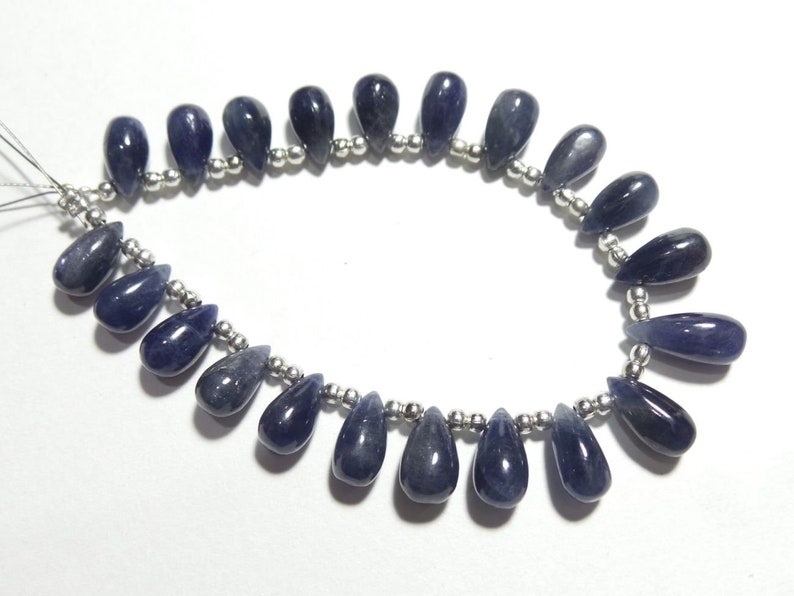 Stone size - 9x5-12x5 MM Natural Blue Sapphire Smooth Tear Drops Briolettes Blue Sapphire Drops For jewelry Making Loose Gemstone