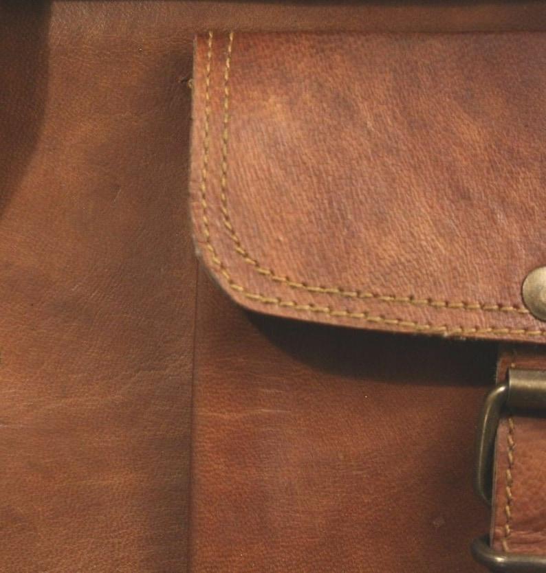 New Men/'s S to XL Leather Handbag Brown Briefcase Shoulder Bag Messenger Bag