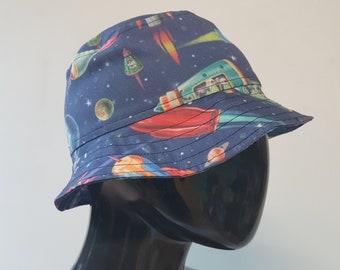 f614113f40924 summer festival rave lightweight bucket hat vintage space rockets