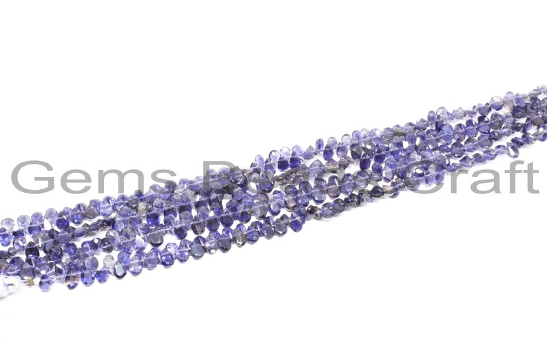 Iolite AA Quality Gemstone Beads  Bead Size Iolite Pear Shape Beads 4x6 mm Iolite Faceted Beads
