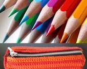 Striped pencil case