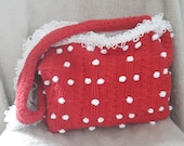 Shoulderbag : red with wite bullets