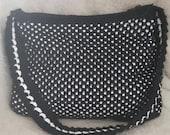 Shoulder bag black with white sparks