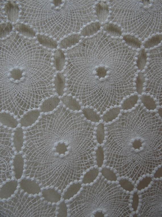 Tissu de coton blanc de de de dentelle. Dentelle de haute qualité, dentelle de mariée 30e240