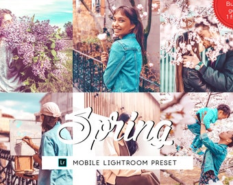 Spring Lightroom Mobile Presets, Lifestyle Lightroom Presets, Iphone Presets Bright, Photography Preset, Travel Preset, Photo Enhancement