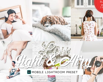 Light Airy Lightroom Mobile Preset, Lifestyle Lightroom Preset, Instagram Blogger Filter Presets Bright, Photography Preset, Travel Preset
