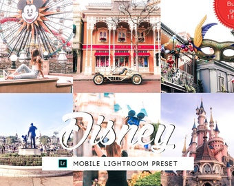 Disney Lightroom Mobile Presets, Lifestyle Lightroom Presets, Iphone Presets Bright, Photography Preset, Travel Preset, Photo Enhancement