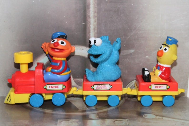 Vintage 1994 | ABC - Sesame Street train by Tyco Preschool | Vintage Toys