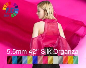 1add44fc0376e 5.5mm silk organza fabric pure solid color 42