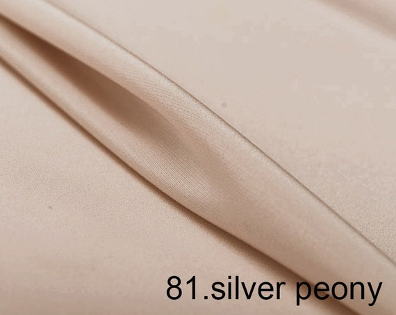 silk crepe de chine satin back pure solid fabric 45 width NO.20 deep pink color sell by the yard for dress pants shirts