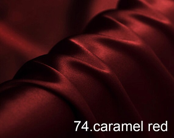 evening dress pants sell by the yard silk satin fabric pure solid fabric NO.88 woodrose color for wedding shirts
