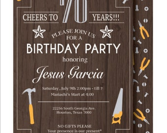 Handy Man Birthday Invite