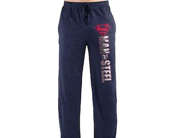 5cec7b954261 Superman Man Of Steel Symbol Men s Sleep Lounge Pants Loungewear Superhero  Clark Kent Adult Fandom Pajama Bottoms